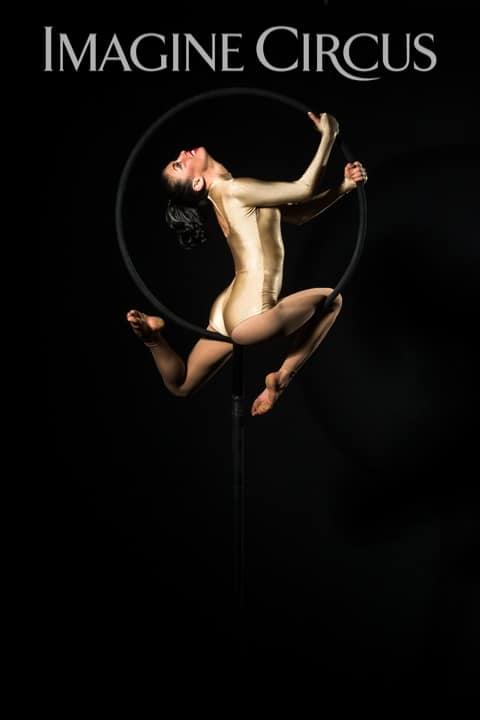 Aerial Hoop, Lyra, Aerialist, Upscale Event, Imagine Circus, Performer, Kaci, Photo by Brooke Meyer