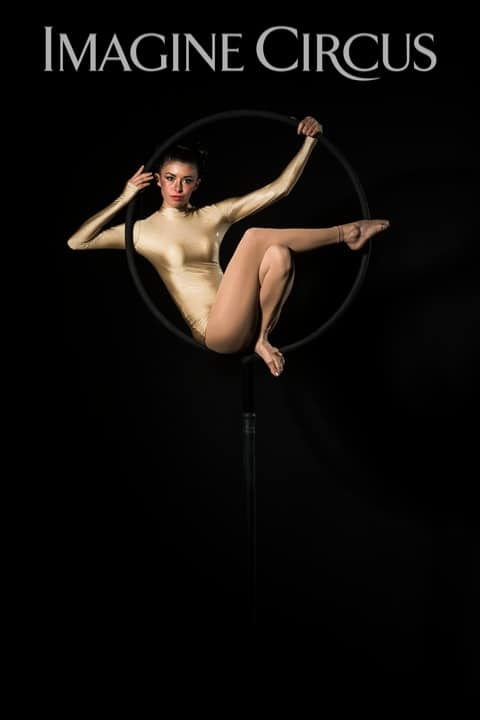 Aerial Hoop, Lyra, Aerialist, Upscale Event, Imagine Circus, Performer, Kaci, Photo by Brooke Meyer