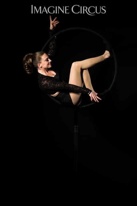 Aerial Hoop, Lyra, Aerialist, Upscale Event, Imagine Circus, Performer, Katie, Photo by Brooke Meyer