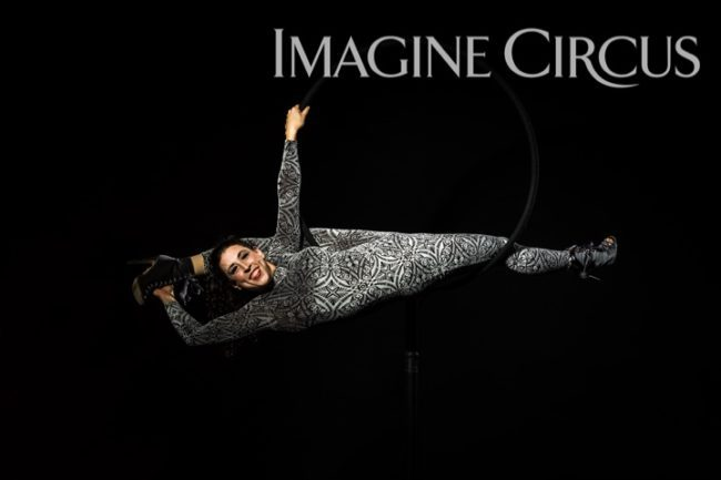 Aerial Hoop, Lyra, Aerialist, Upscale Event, Imagine Circus, Performer, Liz, Photo by Brooke Meyer