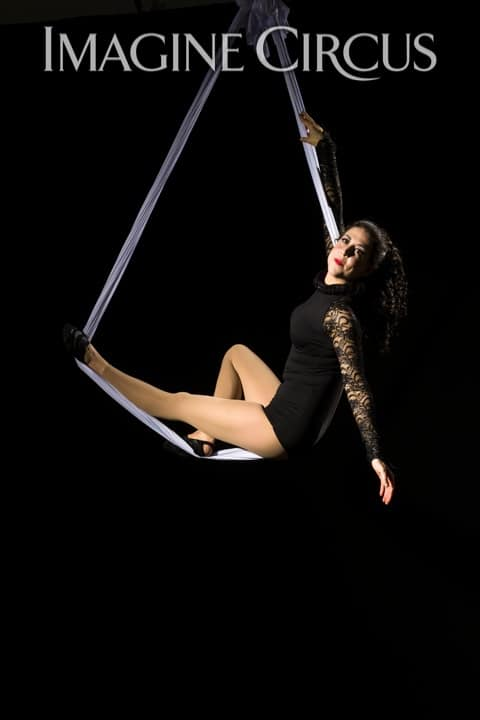 Aerial Silks, Aerial Hammock, Aerialist, Upscale Event, Imagine Circus, Performer, Liz, Photo by Brooke Meyer