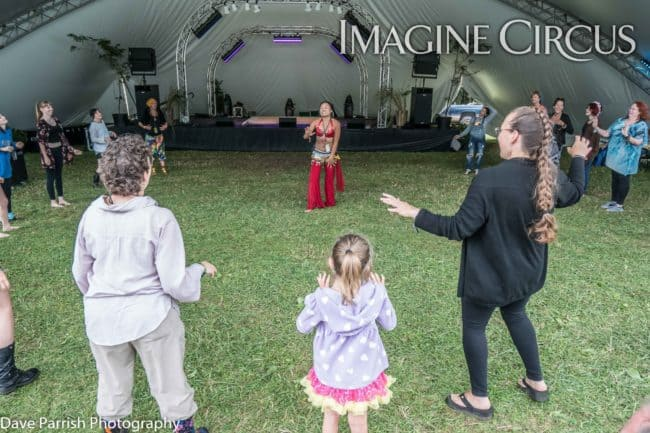 Asyia, Belly Dance Workshop, Floyd Fest, Imagine Circus, Photo by Dave Parrish