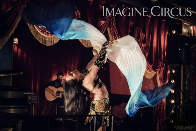 Asyia, Belly Dancer, Silk Fans, C Grace, Imagine Circus, Photo by Bonnie Stanley Photography