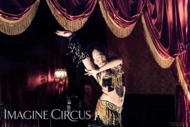 Asyia, Belly Dancer, C Grace, Imagine Circus, Photo by Bonnie Stanley Photography