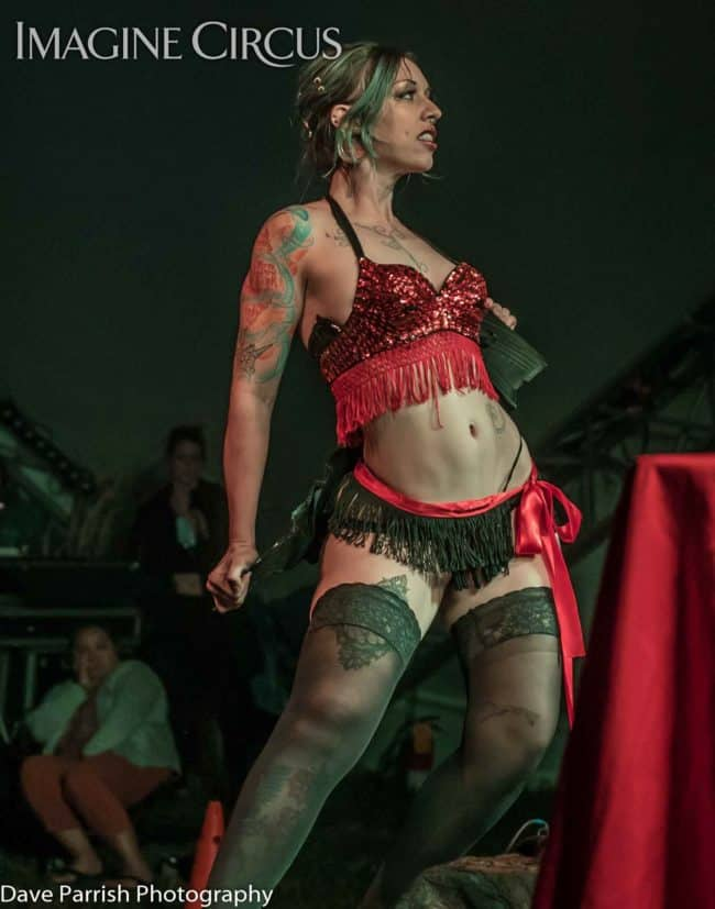 Collette, Burlesque, Floyd Fest, Imagine Circus, Photo by Dave Parrish