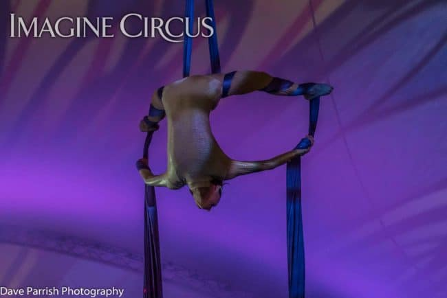 Kaci, Aerialist, Aerial Silks, Floyd Fest, Imagine Circus, Photo by Dave Parrish