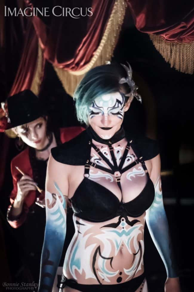 Kaylan & Molly, Body Paint, C Grace, Imagine Circus, Photo by Bonnie Stanley Photography