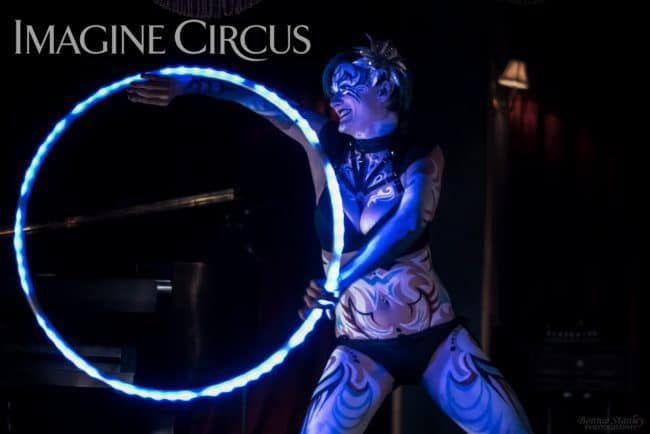 Kaylan, Sexy LED Hoop Dancer, Body Paint, C Grace, Imagine Circus, Photo by Bonnie Stanley Photography