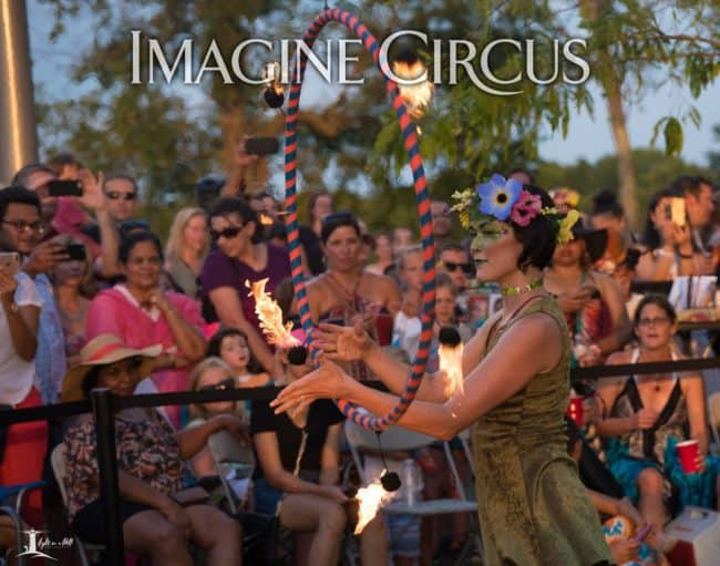 Mindy, Fire Performer, Earth Goddess, Imagine Circus, NCMA, Photo by Tony Jones, Light on a Hill Photography