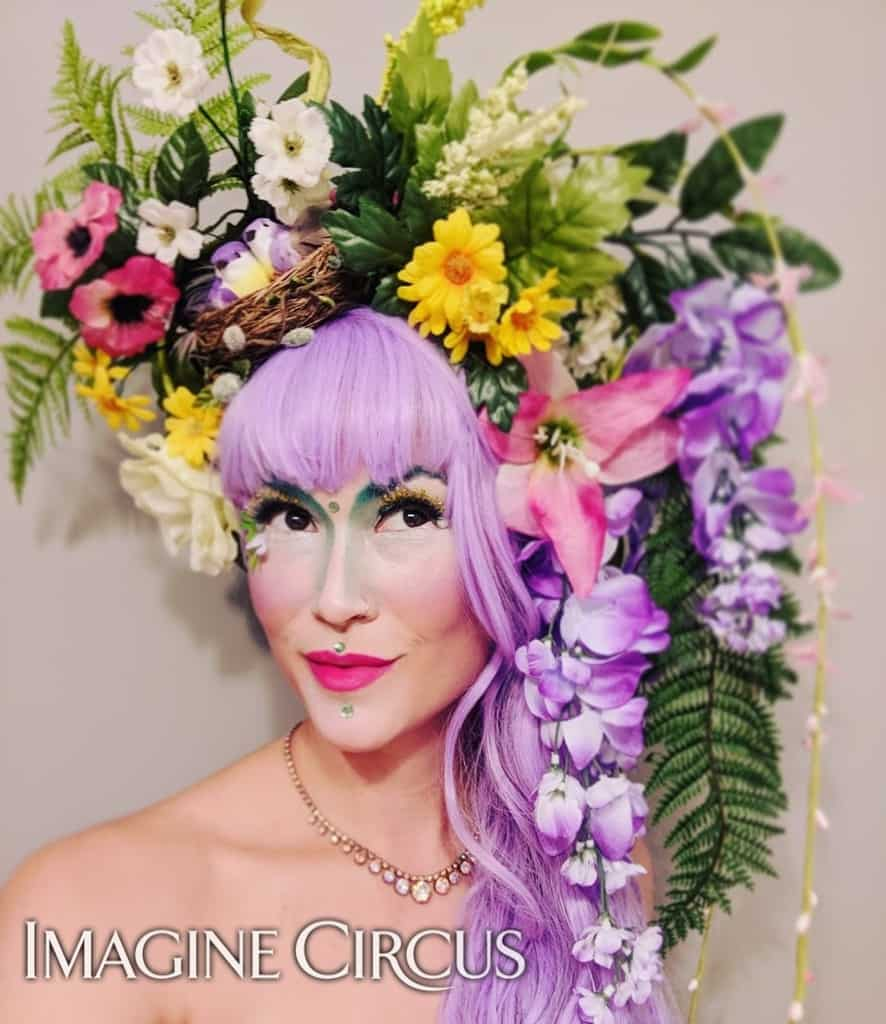 Floral Fairy, Stilt Walker, Secret Garden Theme, Imagine Circus, Performer, Mindy