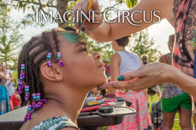 Molly, Face Painter, Imagine Circus, NCMA, Photo by Slater Mapp