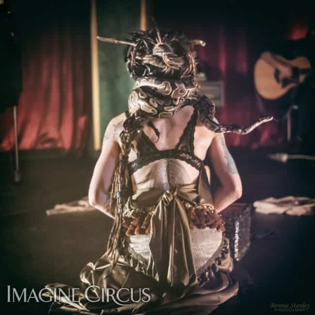Tik-tok, Sexy Snake Charmer, C Grace, Imagine Circus, Photo by Bonnie Stanley Photography