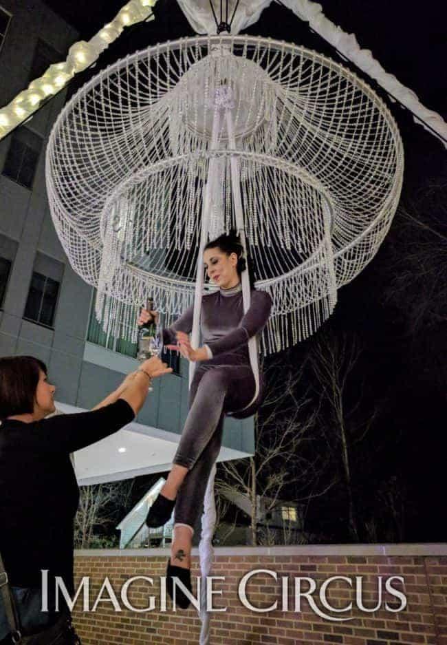 Aerial Chandelier, Aerial Bartender, Aerial Hammock, AC Hotel, Grand Opening, Liz, Imagine-Circus