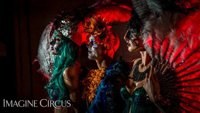 Imagine Circus | Day of the Dead | Lacy Blaze, Adam & Tik Tok | Photo by Finding Future