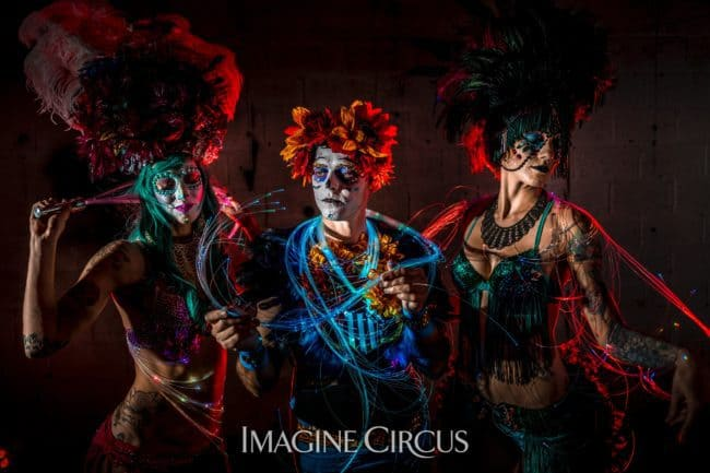 Imagine Circus | Sexy Day of the Dead | Lacy Blaze, Adam & Tik Tok | Photo by Finding Future