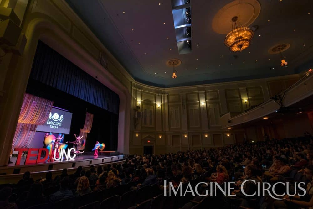 Stage Show, Group Performance, TEDx UNC, Memorial Hall, Chapel Hill, Photo by Jon Gardiner, Imagine Circus