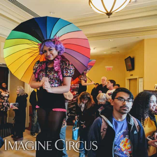 Stilt Walker, Parasol Dancer, TEDx UNC, Memorial Hall, Chapel Hill, Imagine Circus, Performer, Mari