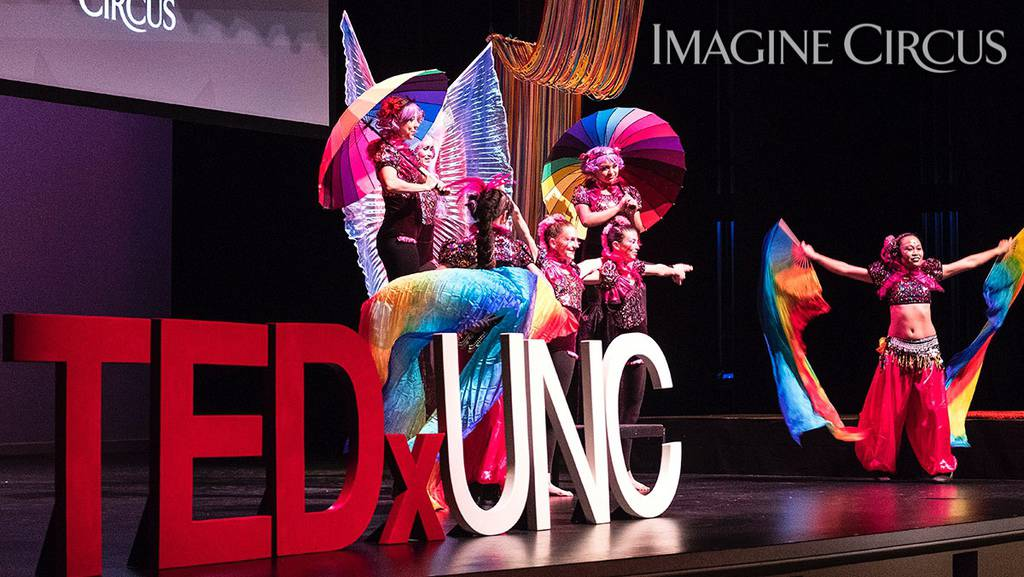 TEDx UNC Colorwheel, Photo by Jon Gardiner UNC Chapel Hill, Imagine Circus