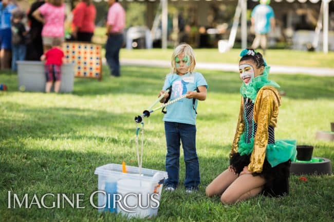 Bubble Artist, Giant Bubbles, Performer, Kaci, Imagine Circus, Photo by Becca's Pics