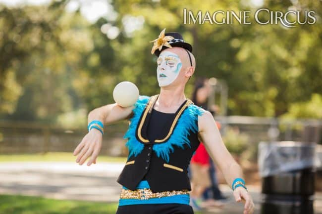Juggler, Contact Juggling, Performer, Adam, Imagine Circus, Photo by Becca's Pics