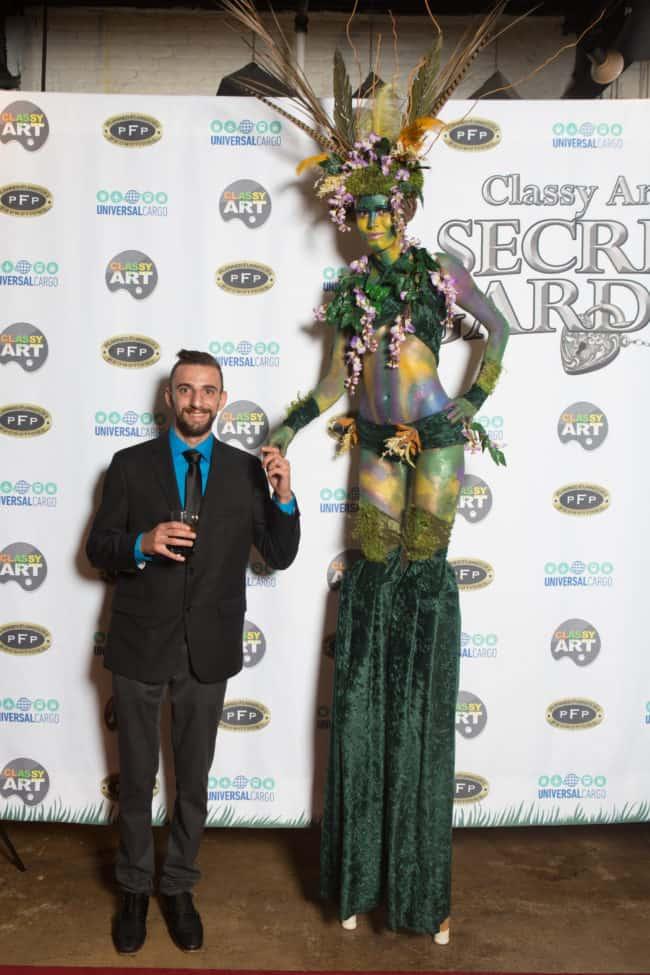 Stilt Walker, Secret Garden Theme, Earth Goddess, Kaci, Imagine Circus