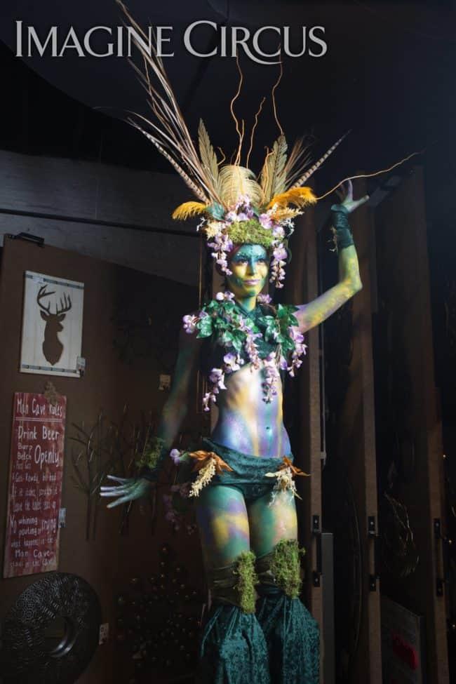 Stilt Walker, Secret Garden, Sexy Performer, Kaci, Imagine Circus, Classy Art, Desilu Photography