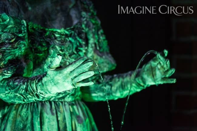 Living Statue, Living Fountain, Performer, Liz, Imagine Circus, Classy Art, Desilu Photography