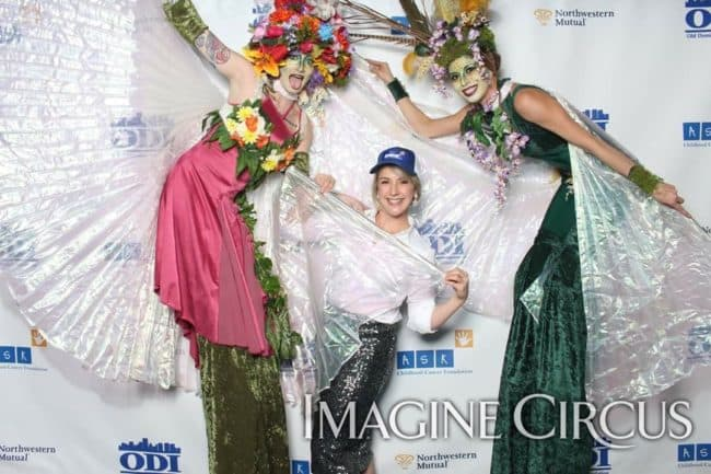Secret Garden, Fairy Stilt Walkers, Enchanted Forest Party, Imagine Circus, Performers, Kaci, Azul, Moxbox Photos