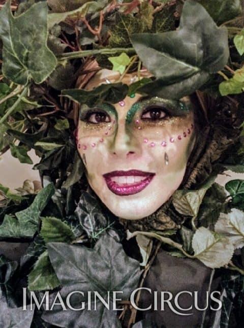 Vine Stilt Walker, Enchanted Forest Party, Imagine Circus, Performer, Kaci