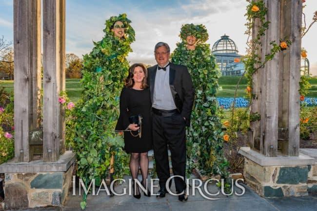 Quad Vine Stilt Walkers, Lewis Ginter Botanical Gardens, Richmond, VA, Imagine Circus, Performer, Liz, Katie, SJ Collins Photography
