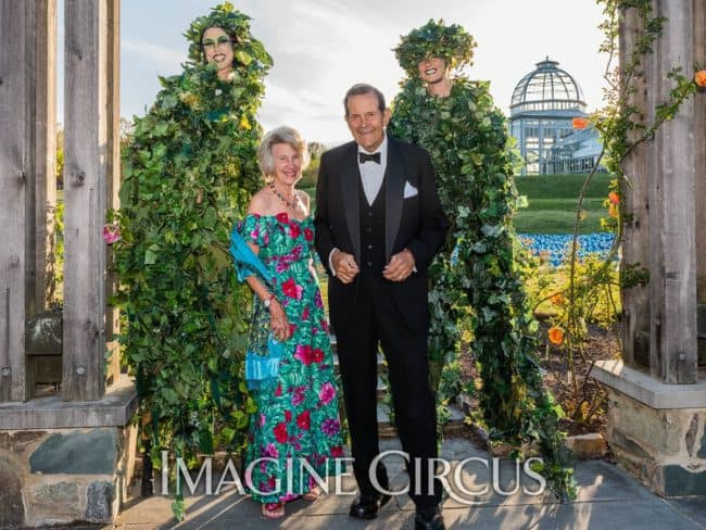 Quad Vine Stilt Walkers, Lewis Ginter Botanical Gardens, Richmond, VA, Imagine Circus, Performer, Liz, Katie, SJ Collins Photography