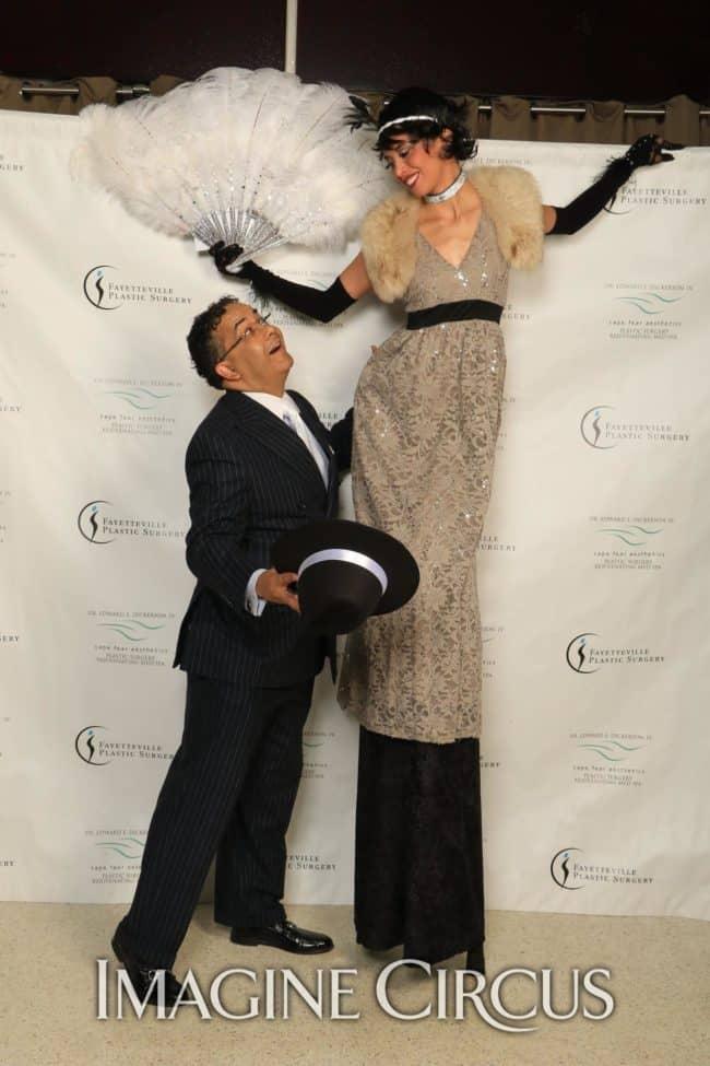 Stilt Walker, Gatsby Gala, Upscale Entertainment, Imagine Circus, Performer, Kaci