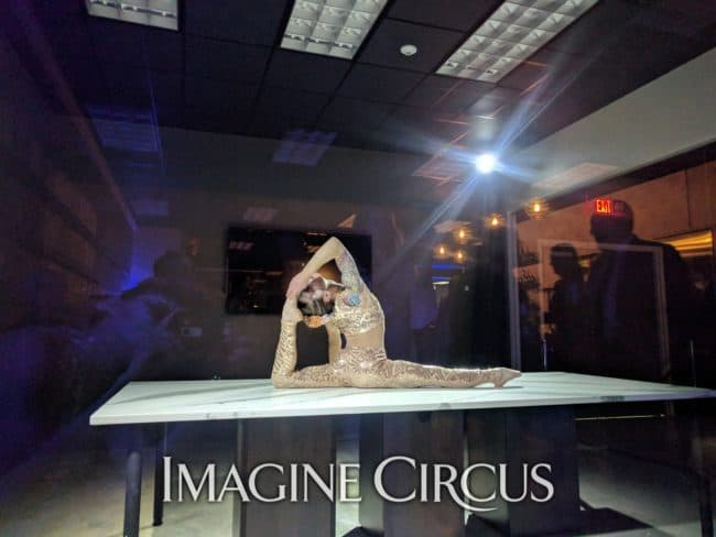 Acrobat, Upscale Event, Grand Opening, Charlotte, NC, Imagine Circus, Performer, Brittany, Photo by Rick Belden