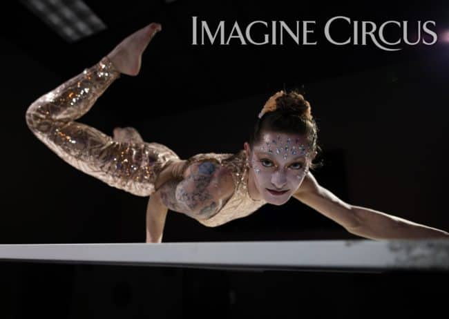 Acrobat, Contortionist, Upscale Event, Grand Opening, Charlotte, NC, Imagine Circus, Performer, Brittany, Photo by Rick Belden