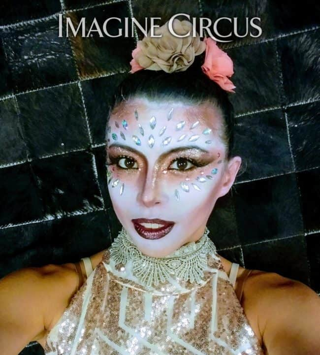 Acrobat, Upscale Event, Grand Opening, Charlotte, NC, Imagine Circus, Performer, Kaci, Photo by Rick Belden