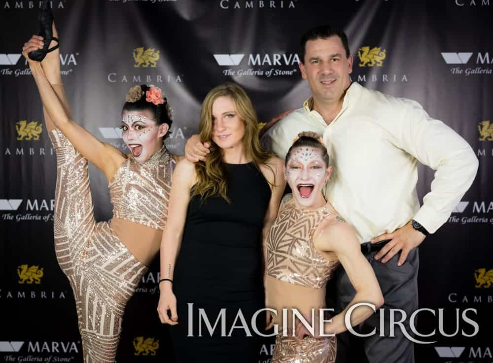 Acrobats, Partner Acrobatics, Upscale Events, Grand Opening, Charlotte, NC, Imagine Circus, Performers, Brittany, Kaci, Photo by Rick Belden