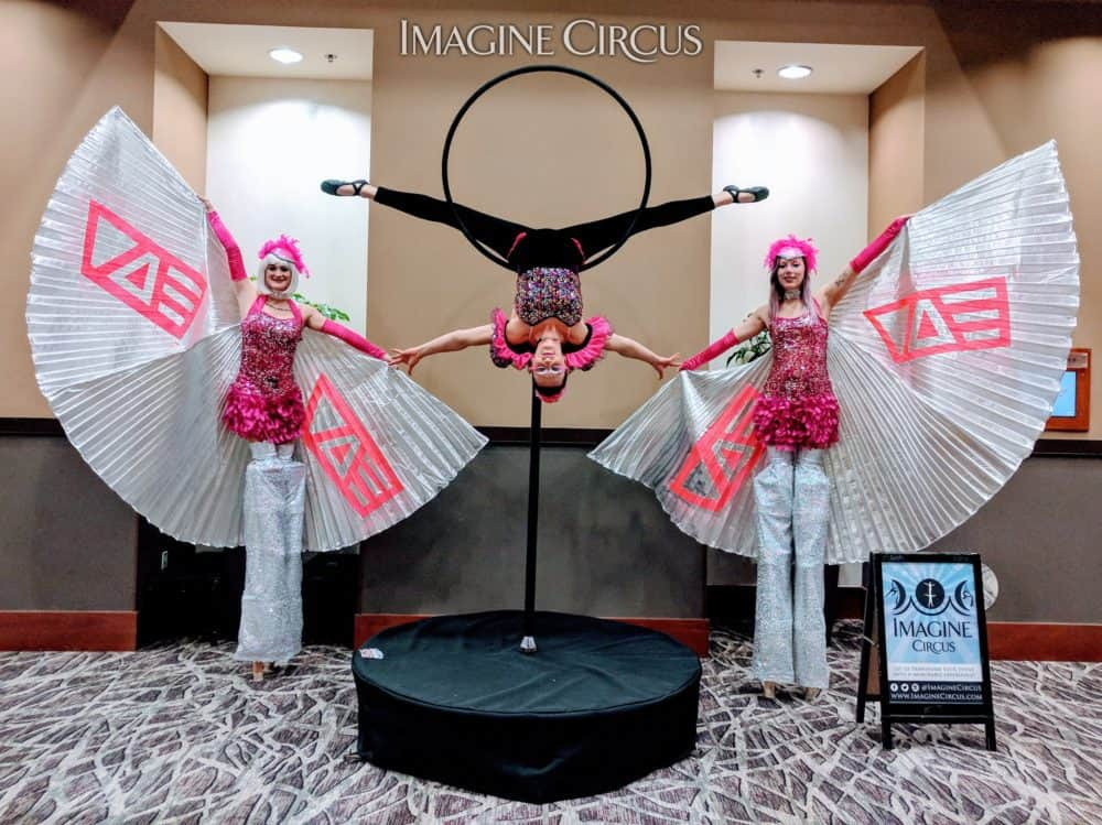 Aerialist, Aerial Hoop, Lyra, Winged Stilt Walkers, VAE Gala, Imagine Circus, Performers, Azul, Katie, Steph
