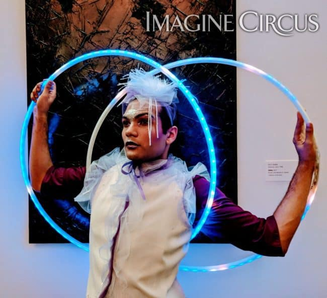 LED Hoop Dancer, Upscale Event, Imagine Circus, Performer, Ben, Richmond, VA