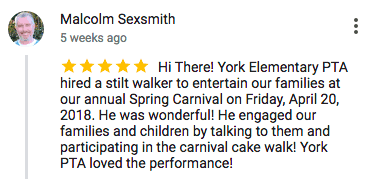Imagine Circus Google Review Malcolm Sexsmith