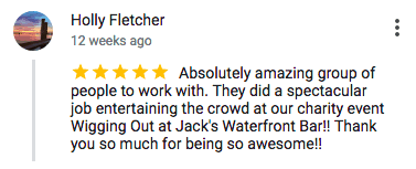 Imagine Circus Google Review Holly Fletcher