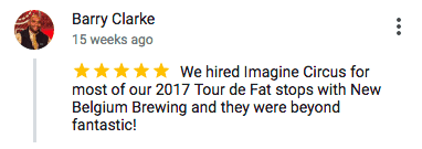 Imagine Circus Google Review Barry Clarke