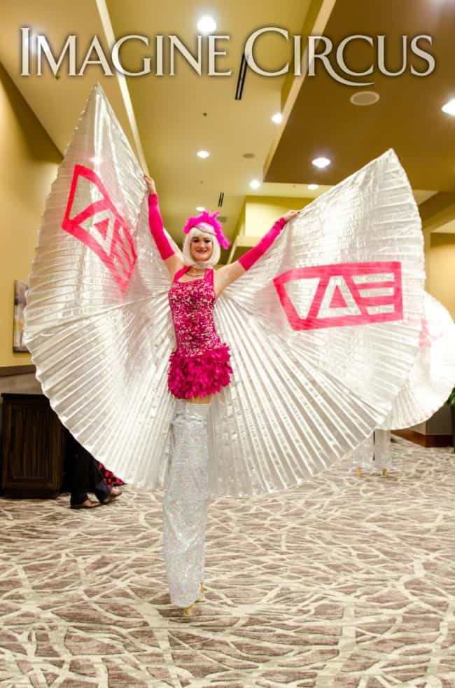 Stilt Walkers, Show Girls, Winged Dancers, VAE Gala, Imagine Circus, Performer, Azul, Rachel Berber Photography