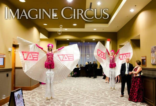 Stilt Walkers, Show Girls, Winged Dancers, VAE Gala, Imagine Circus, Performers, Steph, Azul, Rachel Berber Photography