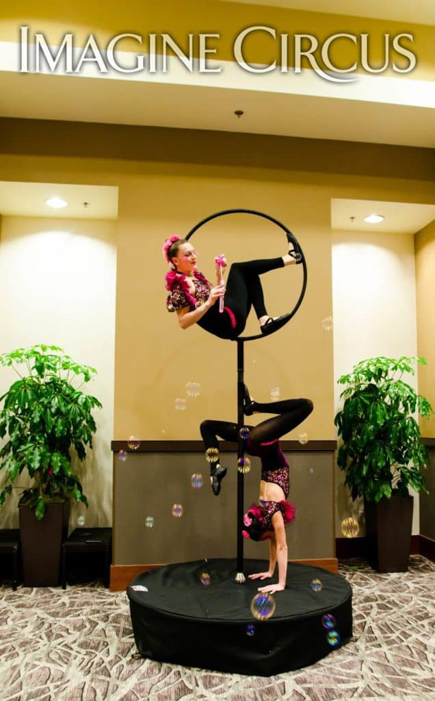 Upscale Entertainment, Aerial Hoop, Aerialist, Acrobat, VAE Gala, Raleigh, NC, Imagine Circus, Performers, Katie, Kaci, Rachel Berbec Photography