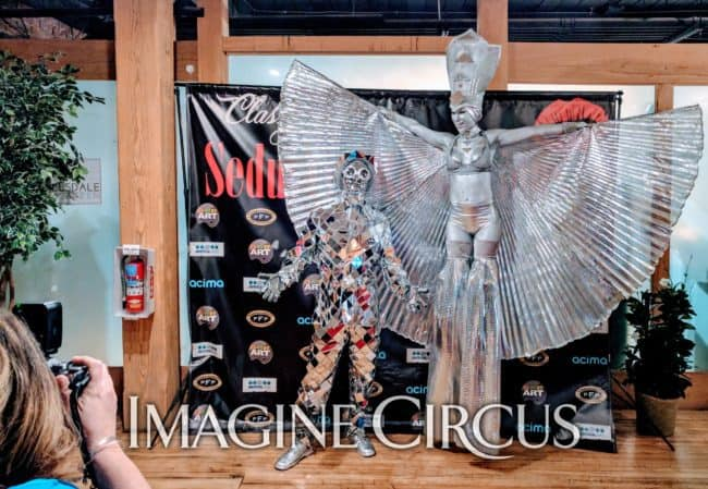 Mirror Man, Silver, Stilt Walker, Classy Art, Imagine Circus, Performer, Adrenaline, Tain, Photo by Nixons Photography