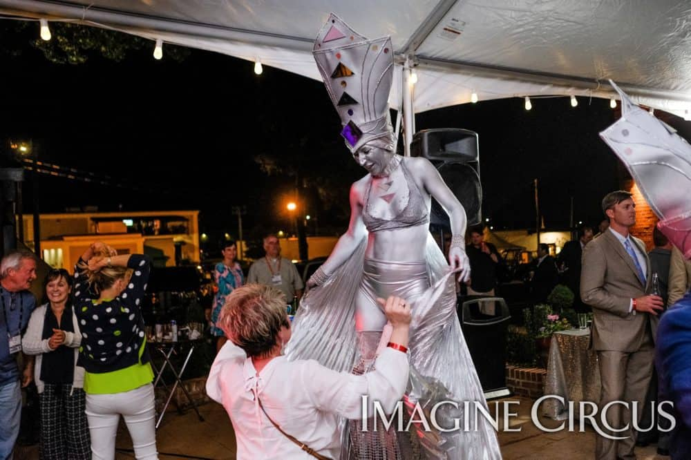 Silver Stilt Walker, Winged Dancer, Performer, Classy Art, Imagine Circus, Adrenaline, Photo by the Nixons Photography