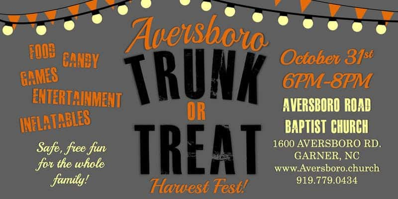 Aversboro Trunk or Treat Harvest Festival: Garner, NC