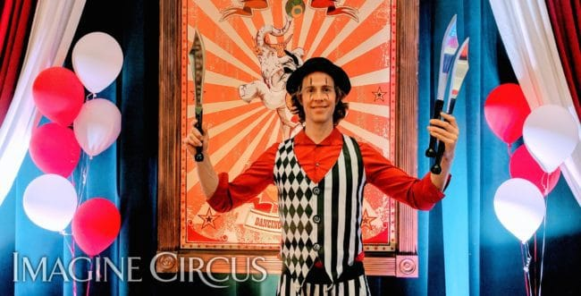 Tain, Knife Juggler, Imagine Circus, Time with Tain Show