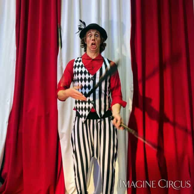 Tain, Juggler, Imagine Circus Performer, Time with Tain Show