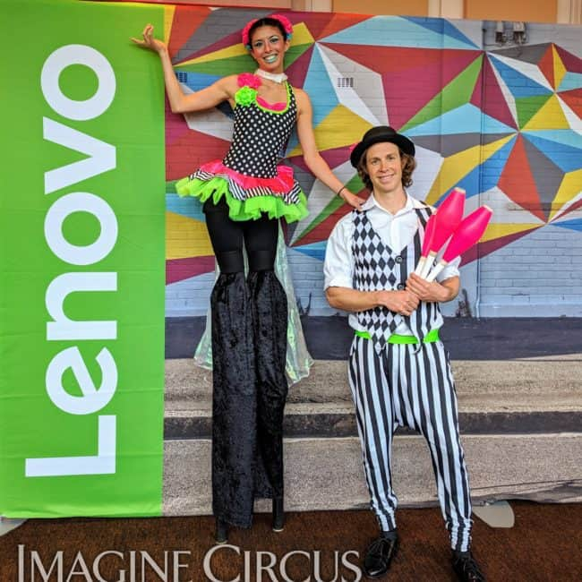 Tain, Juggler, Imagine Circus Performer, Time with Tain Show, Lenovo